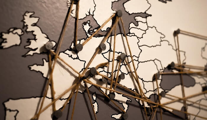 ヨーロッパの地図とルート決め