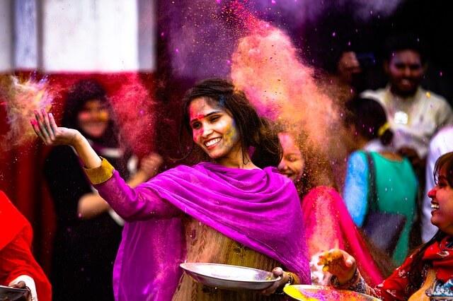 インドのホーリー祭り