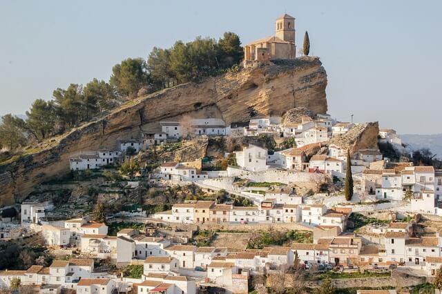 スペインのアンダルシアの街並み