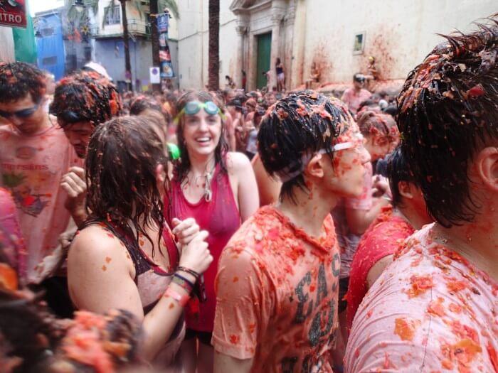 スペインのトマト祭り(ラ・トマティーナ)参加 (22)