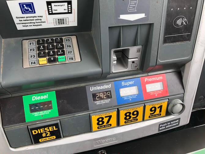 アメリカのガソリンスタンド3