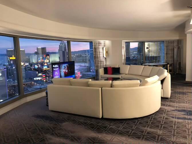 ラスベガスのホテル部屋(スイートルーム)