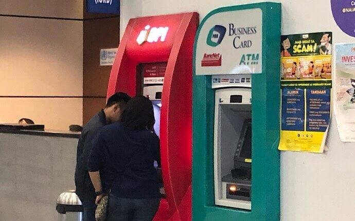 「BPI」のATM(マニラ空港)