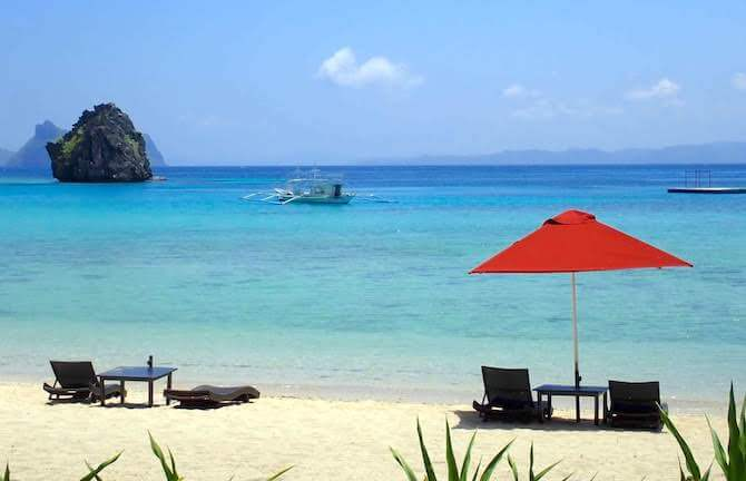 アプリット島のビーチ