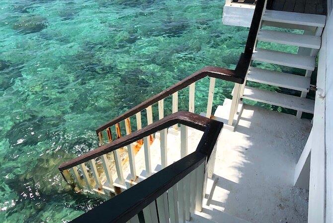 アプリット島の水上コテージ部屋5