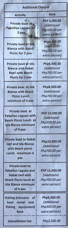 アプリット島プライベートボートトリップの値段