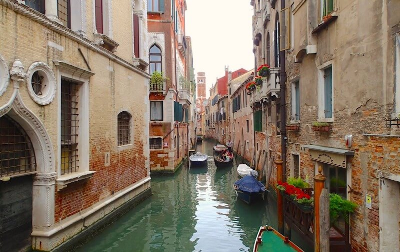 ヴェネチアの街並み