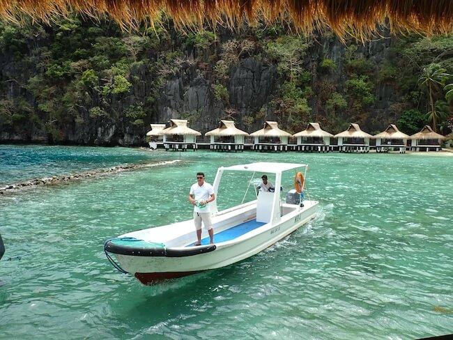 ミニロック島送迎ボート