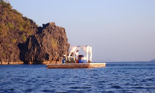 船の上のスペシャルディナー