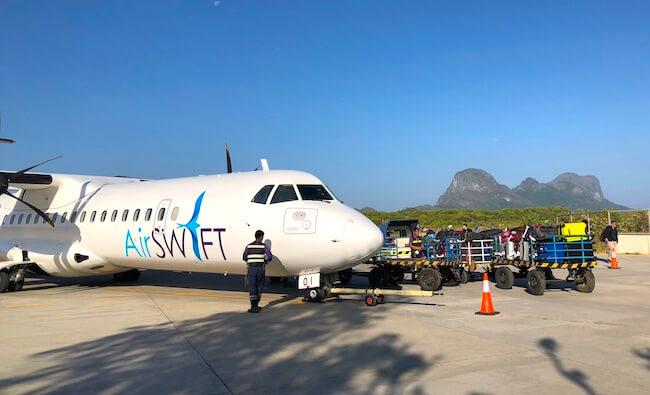 AirSwiftの飛行機