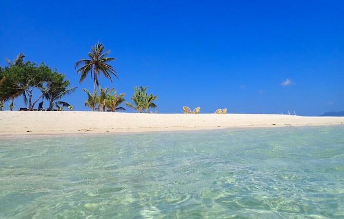 Isla Blancaのビーチ