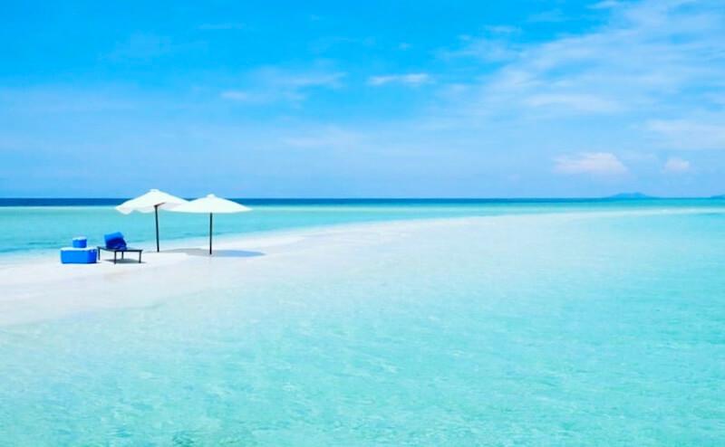 パマリカン島のビーチ